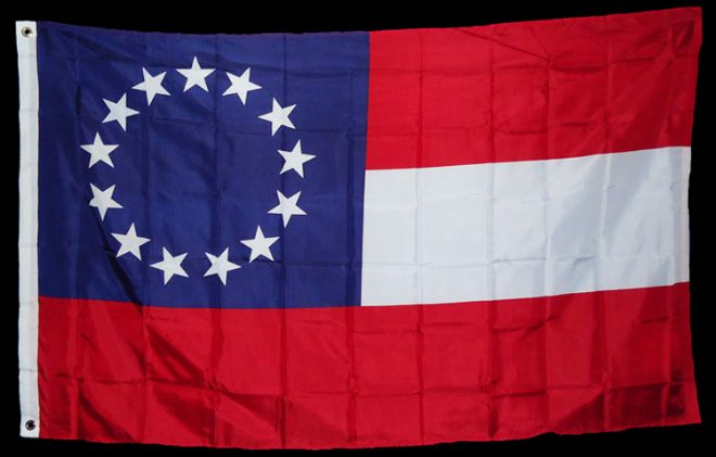 13 Star 1st National Stars & Bars Flag